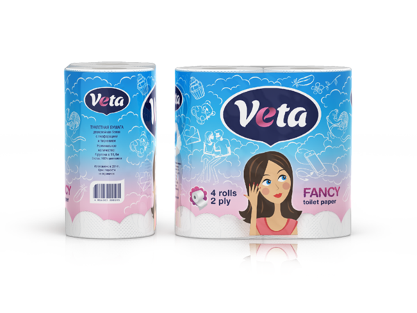 Туалетная бумага «Veta Fancy»